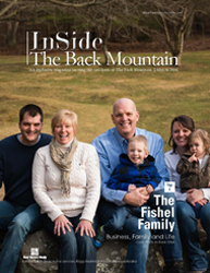 Cover of Inside the Back Mountain Story magazine with The Fishel Family